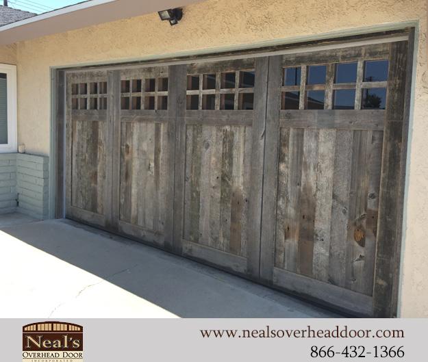 Reclaimed Vintage Wood Custom Garage, Reclaimed Barn Wood Garage Doors